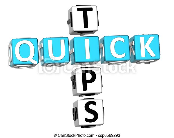 3D Quick Tips Crossword - csp6569293