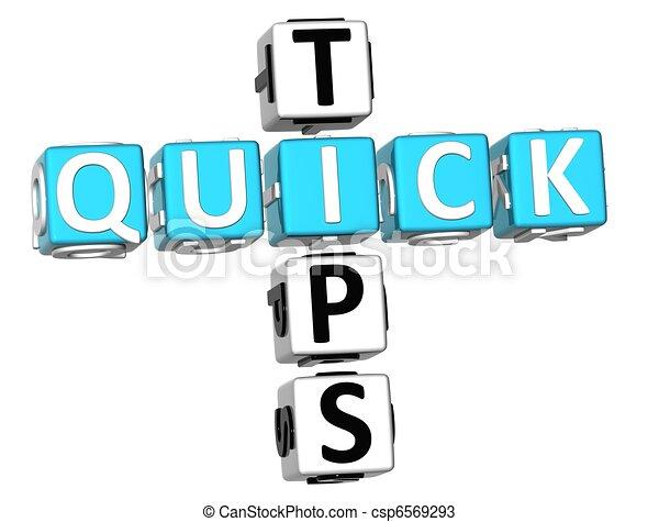 3D Quick Tips Crossword - csp6569293