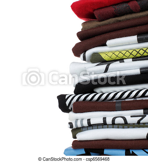 stack of t-shirt and clothes - csp6569468