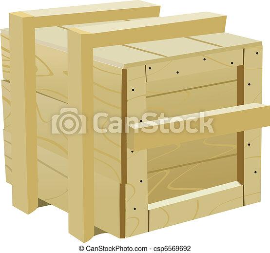 wood container - csp6569692