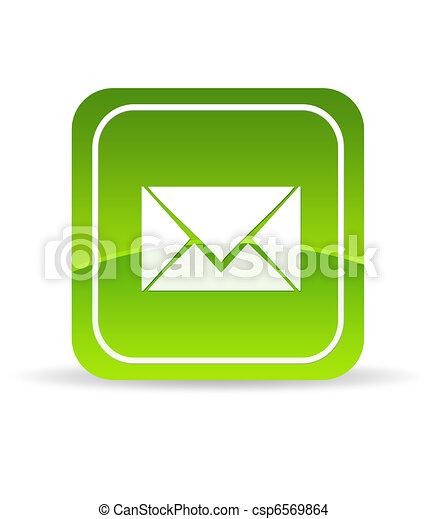 Green Contact Us Icon - csp6569864