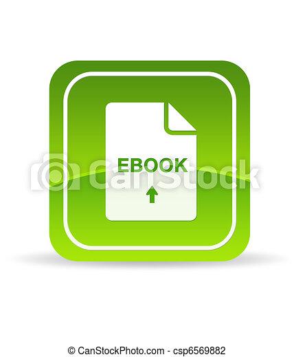 Green Ebook Document Icon - csp6569882