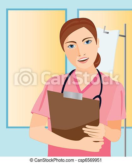 nurse working - csp6569951