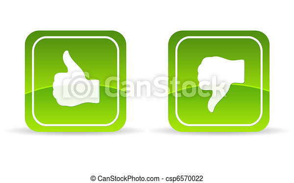 Green thumbs up and down Icon - csp6570022