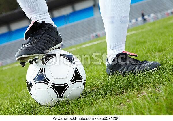 Foot on ball - csp6571290