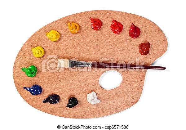 Paint Brush Tips Clip Art