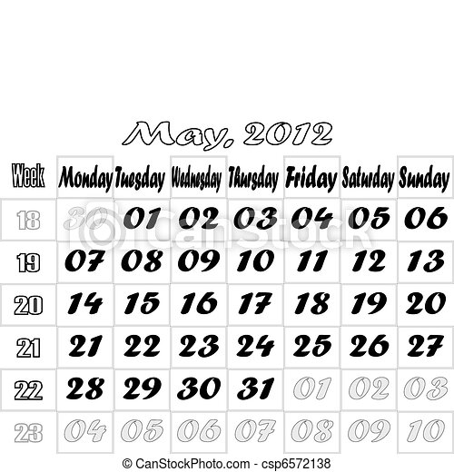 May 2012 monthly calendar v.2 - csp6572138
