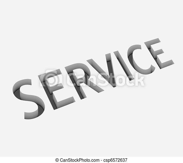 vector service text design - csp6572637