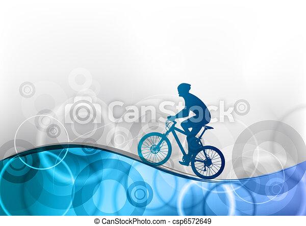 blue biker - csp6572649