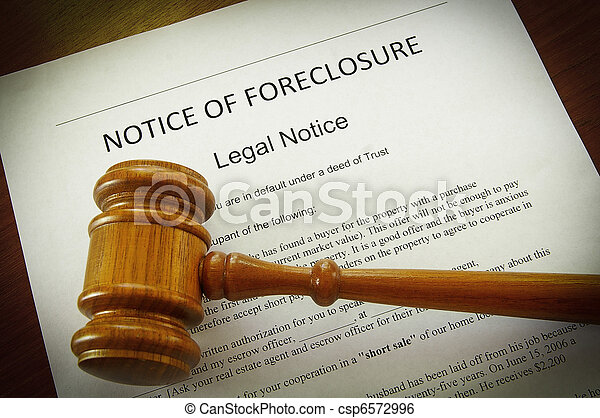 Home Foreclosure document and legal gavel - csp6572996