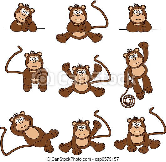 Cartoon Monkeys Clip Art