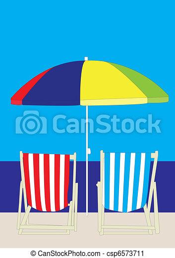 Deckchair Beach - csp6573711