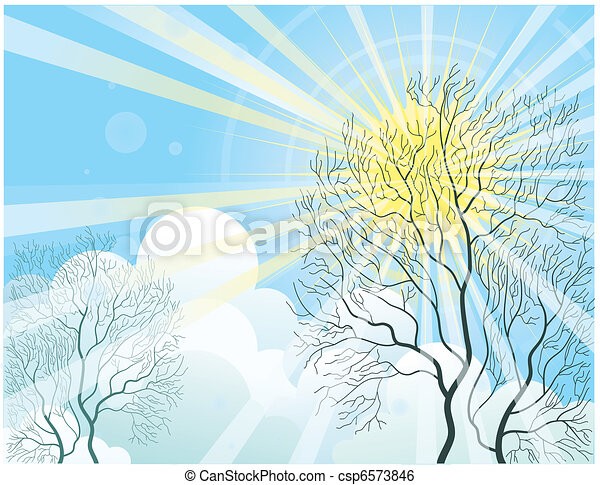 Sun Shining Drawing Sun Rays Shine Through The