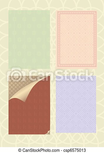 decorative patterns and standards   - csp6575013