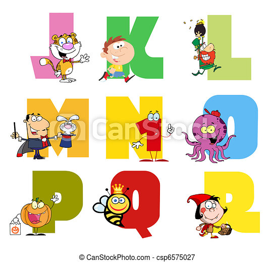 Joyful Cartoon Alphabet Collection - csp6575027