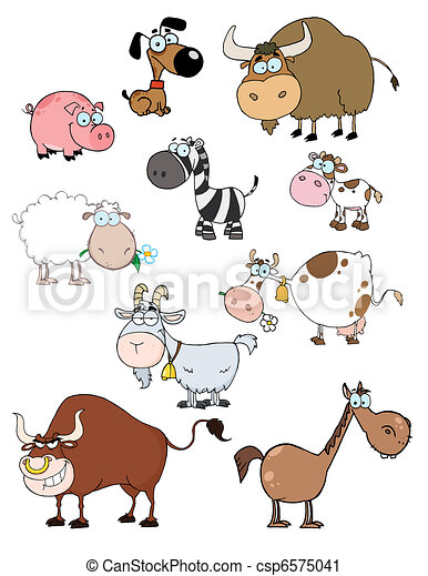 Cartoon Animals  Collection  - csp6575041