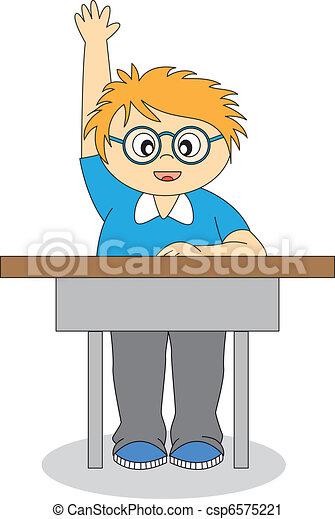 child in school - csp6575221