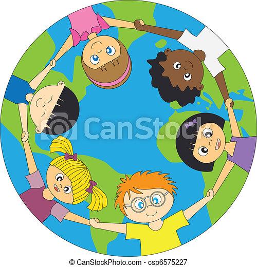 children around the world - csp6575227
