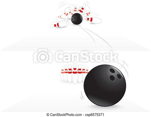 Bowling strike - csp6575371