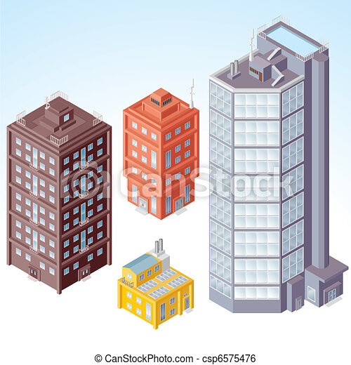 Isometric Buildings #1 - csp6575476