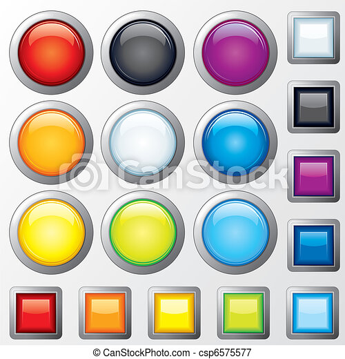 Plastic Buttons - csp6575577