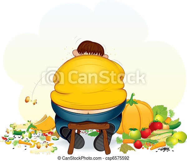 Fatty glutton - csp6575592