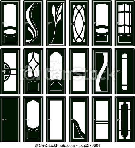 Vector Clip Art of Door forms - Collection of classical ...