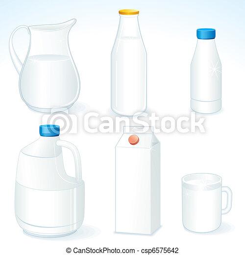 Milk packages - csp6575642