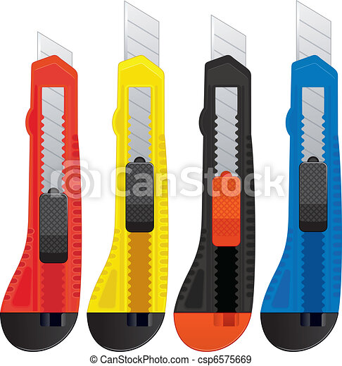 Colored office knifes - csp6575669