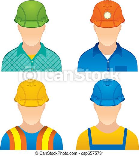 Clip Art Vecteur De Ouvriers Various Worker Icons