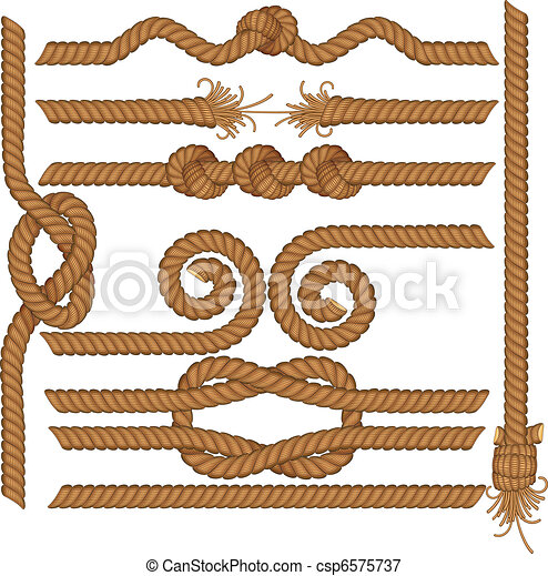 Rope borders - csp6575737