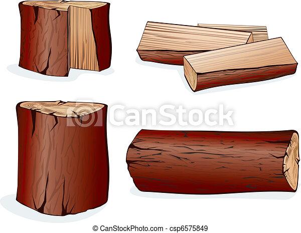 Vector Wood - csp6575849