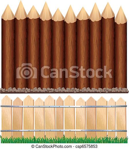 Wooden Fences - csp6575853