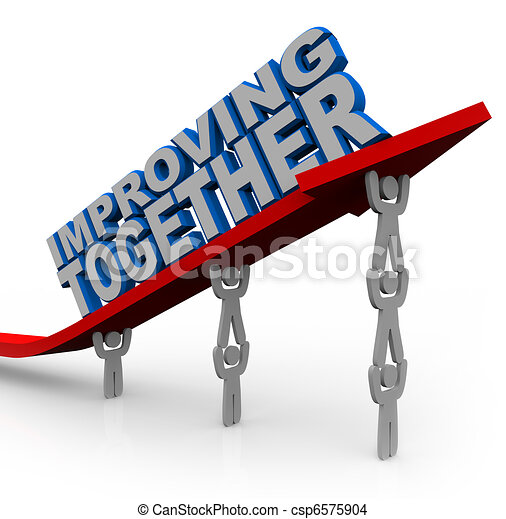 Improving Together Team Lifts Arrow for Growth Success - csp6575904