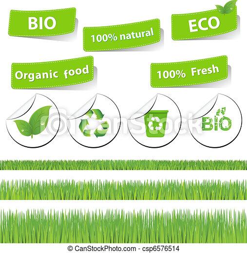 Eco Set With Grass - csp6576514