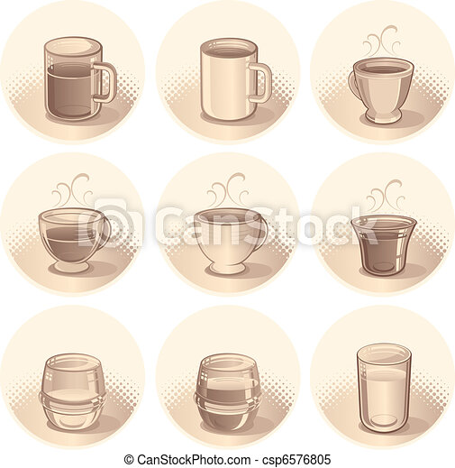 Beverages Icons - csp6576805