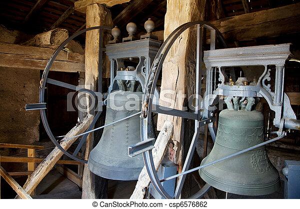Bells of a church. Church bells - csp6576862
