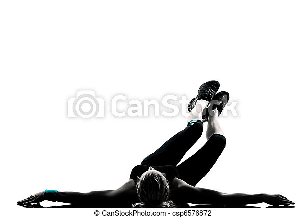 woman workout fitness posture abdominals push ups - csp6576872