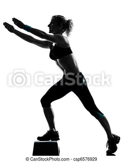 Stock Photographs of woman exercising - 16.3KB