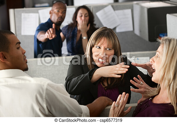 pelea, Compañeros de trabajo, mujeres - csp6577319