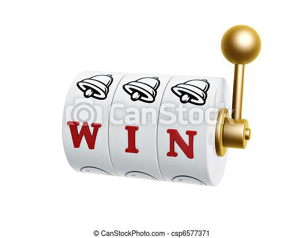 slot machine with win sign - csp6577371