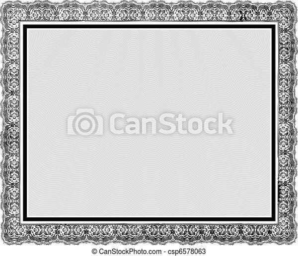 Vector Ornate Vintage Frame - csp6578063
