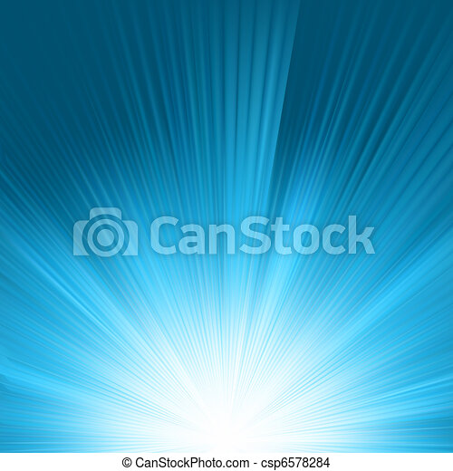 Flare in blue sky. EPS 8 - csp6578284