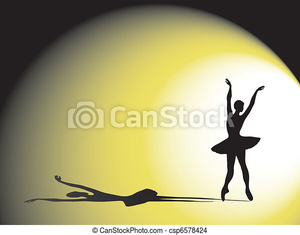 ballerina with shadow - csp6578424
