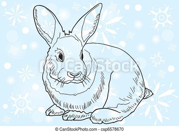 可爱的兔子手绘像素画