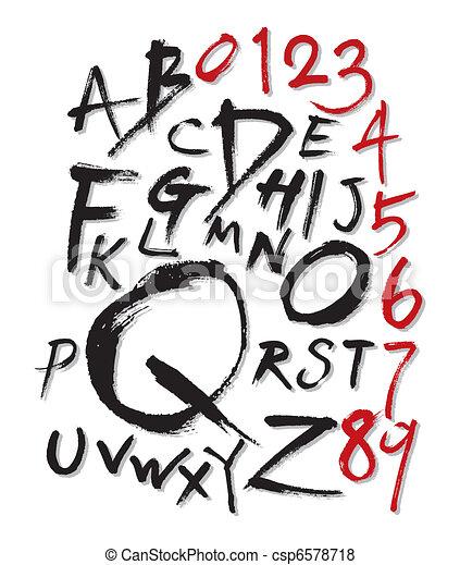 brush style font - csp6578718