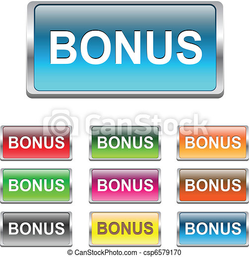 Bonus buttons, icons set, vector - csp6579170
