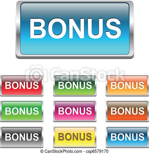 Bonus buttons, icons set, vector - csp6579170