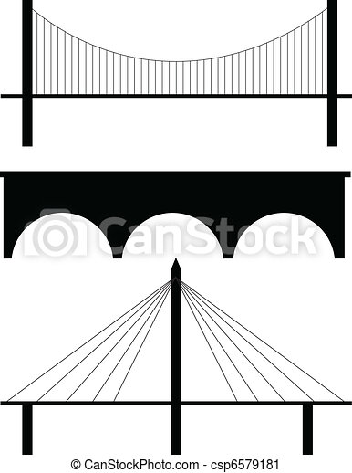 bridge silhouette vector - csp6579181