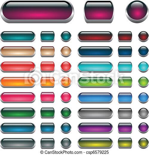 Aqua Web buttons set - csp6579225